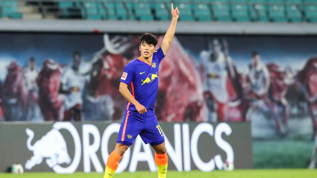 Hat bei einem Länderspiel bereits nach 16 Sekunden für Südkorea ein Tor erzielt: Hee-chan Hwang von RB Leipzig