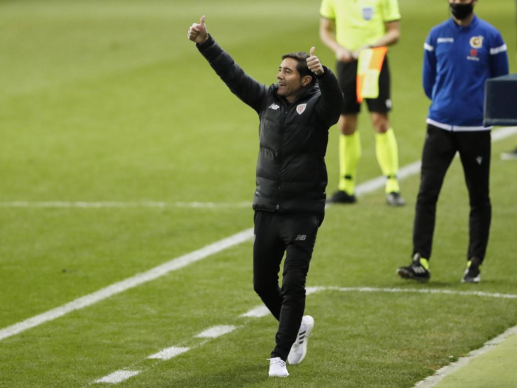 Marcelino planteó un partido sobresaliente al Madrid.