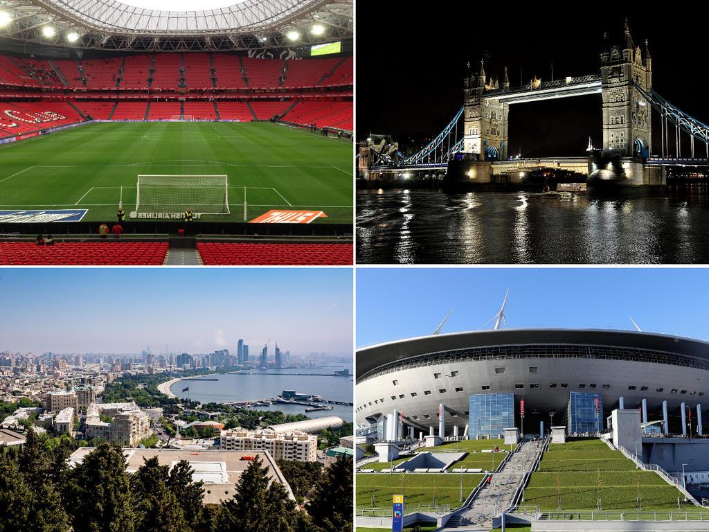 Bilbao, London, Baku und St. Petersburg sind vier der geplanten Spielort der EURO