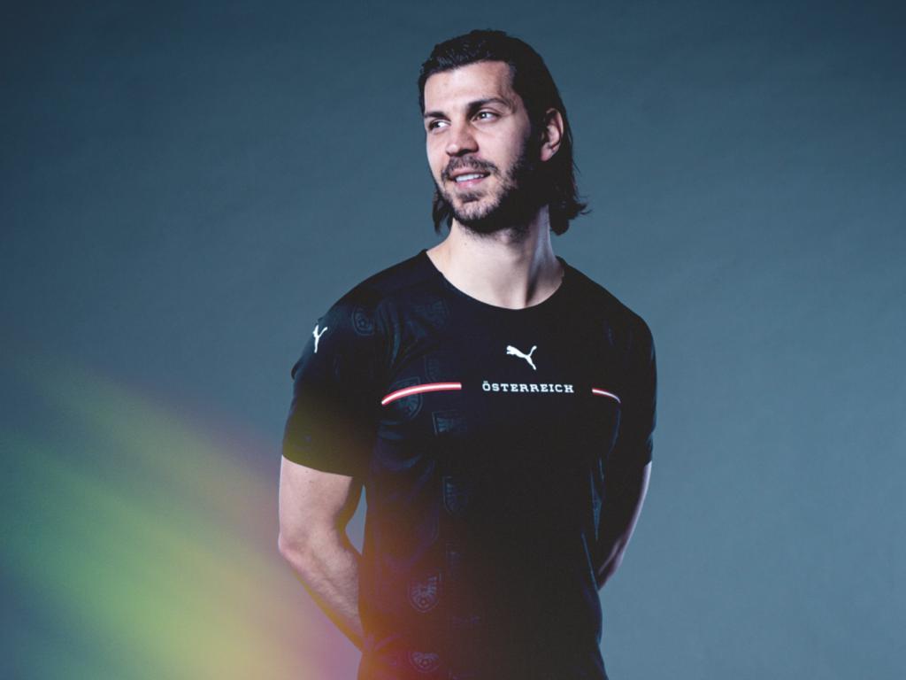 Aleksandar Dragović im neuen ÖFB-Auswärtstrikot