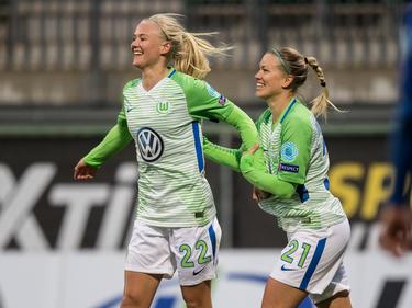 Die Frauen des VfL Wolfsburg stehen mit einem Bein im Halbfinale der Champions League