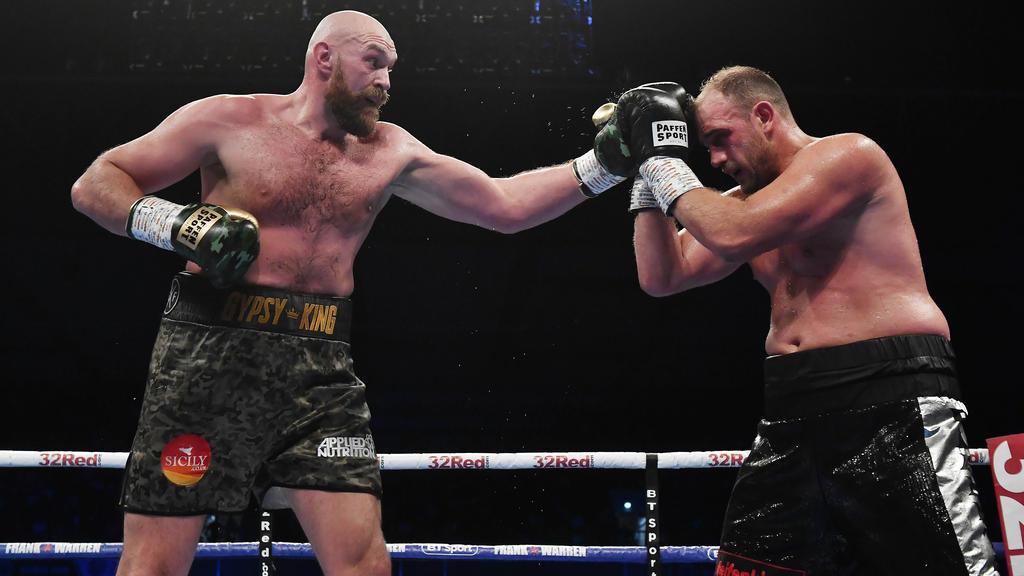 Fury (l.) gewann auch gegen Pianeta
