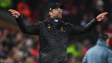 Jürgen Klopp trifft mit seinen Reds auf Manchester United