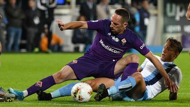 Franck Ribéry sind nach dem Schlusspfiff gegen Lazio Rom die Sicherungen durchgebrannt