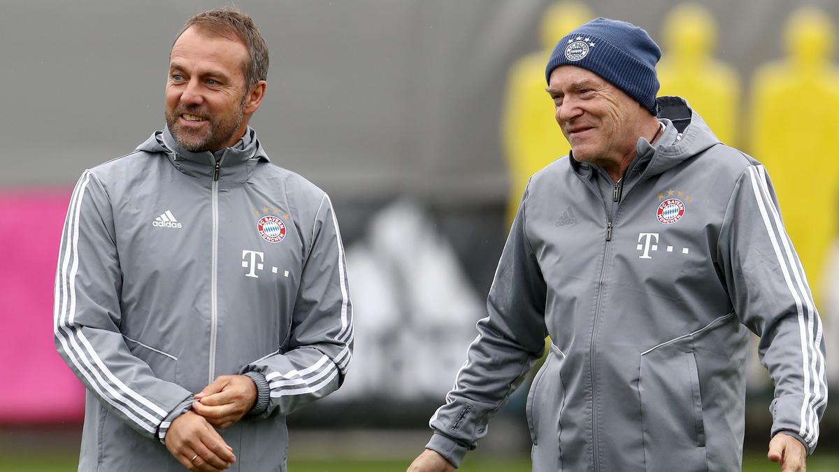 Hermann Gerland (re.) ist zur Zeit Co-Trainer beim FC Bayern