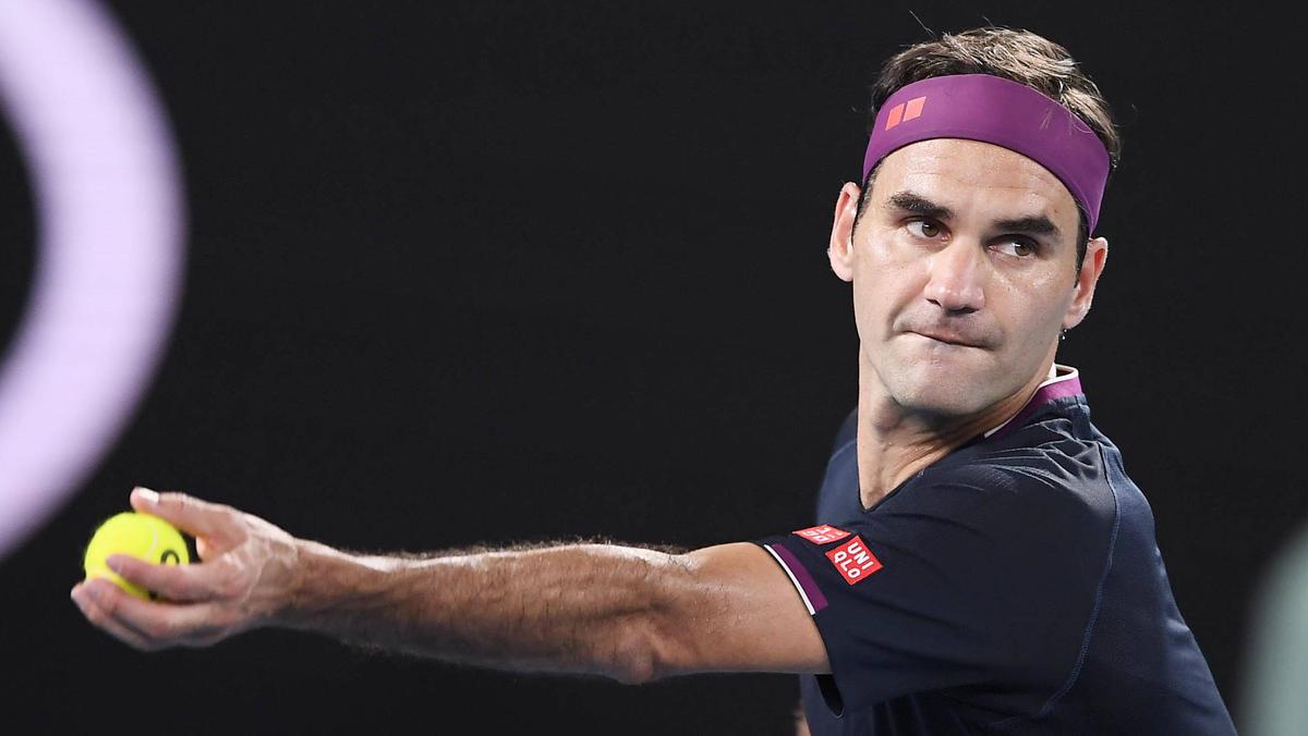 Roger Federer sieht der zeit keinen Grund zu trainieren