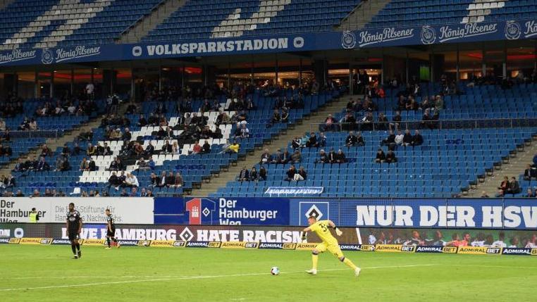 Nur 1000 statt 4500 Zuschauer dürfen beim HSV-Heimspiel gegen Aue ins Stadion