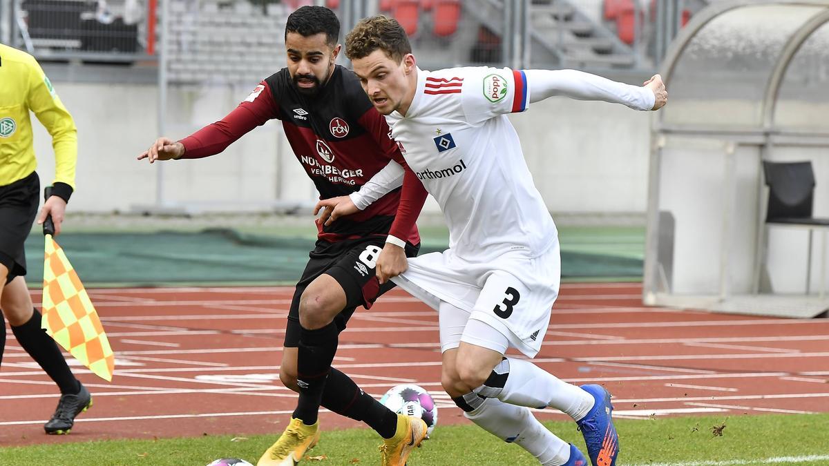 HSV mit Remis beim 1. FC Nürnberg