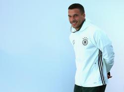 Podolski sorgte unter den Journalisten bei der EM für Freude