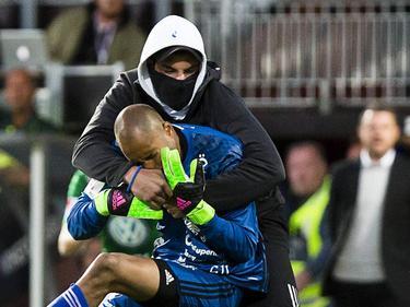 Aly Keita wurde von einem Stadionbesucher attackiert
