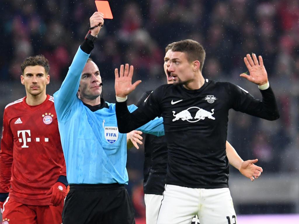 Stefan Ilsanker sah im Spiel gegen Bayern die rote Karte