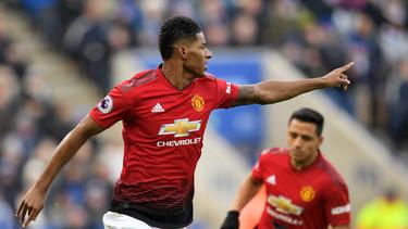 Marcus Rashford schoss United in seinem 100. Premier-League-Auftritt zum Sieg