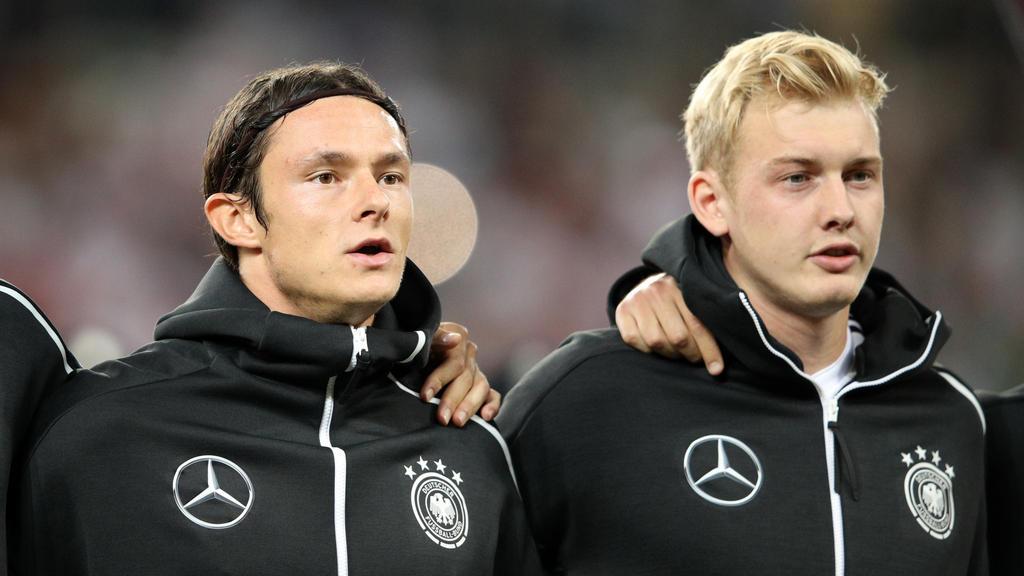 Bald auch beim BVB gemeinsam auf dem Feld: Nationalspieler Nico Schulz (li.) und Julian Brandt