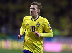Emil Forsberg gehörte zu den Erfolgsgaranten der schwedischen Nationalmannschaft in der WM-Quali