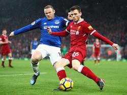 Wayne Rooney (l.) traf gegen den FC Liverpool zum Ausgleich