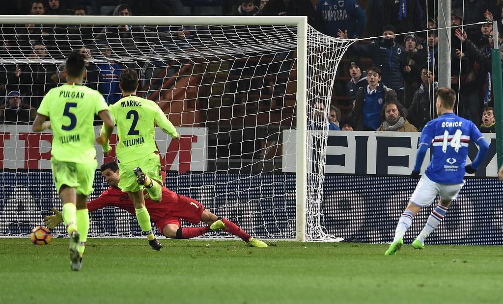 Patrik Schick (r.) überzeugte bei Sampdoria als Top-Joker