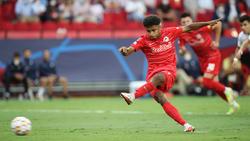 Verpasste sein erstes Tor in der Champions League vom Elfmeterpunkt: Karim Adeyemi von RB Salzburg