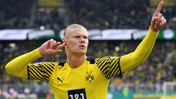 Erling Haaland war beim Comeback für den BVB sofort wieder in Topform