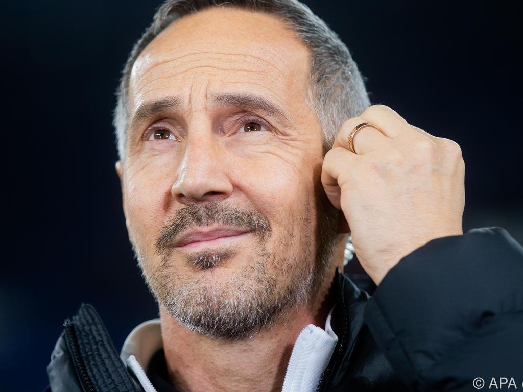 Eintracht-Trainer Adi Hütter sieht derzeit seinen Ex-Arbeitgeber vorne