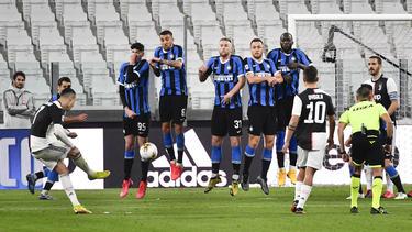Vor leeren Rängen gewann Juventus Turin gegen Inter Mailand