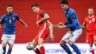Am Sonntag unterlag Lewandowski mit Polen gegen Italien