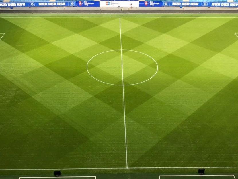 A Realistic Textured Grass Football Soccer