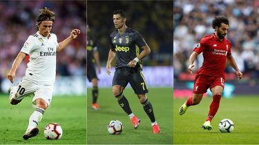 Modric, Ronaldo oder Salah: Wer macht das Rennen?