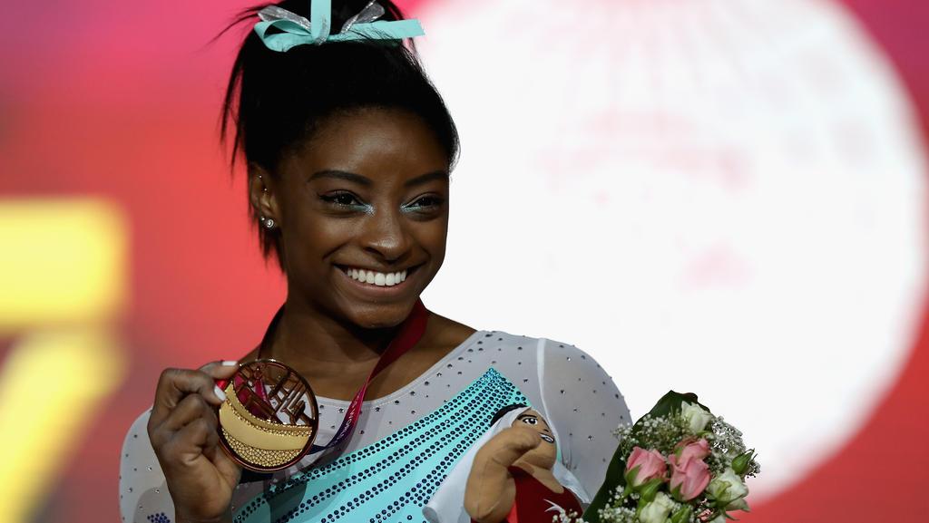 Simone Biles fehlt nur noch eine Goldmedaille zum Rekord
