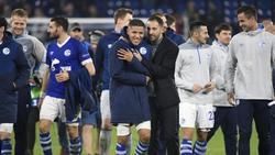 Schalkes Trainer Domenico Tedesco freute sich über den 2:0-Heimsieg gegen Galatasaray