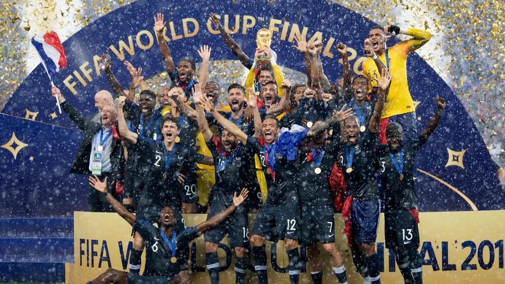 Die französische Mannschaft wurde 2018 Weltmeister