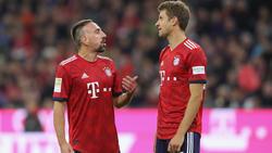 Thomas Müller (r.) spielt seit vielen Jahren mit Franck Ribéry zusammen