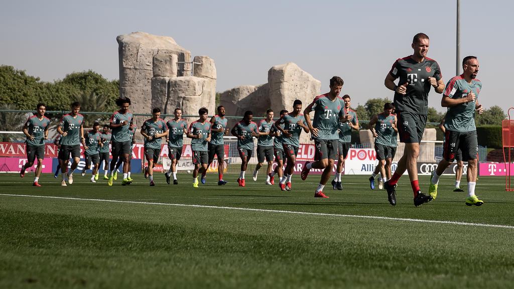 Der FC Bayern bereitete sich in Katar auf die Bundesliga-Rückrunde vor