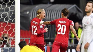 Dolberg es internacional con Dinamarca.