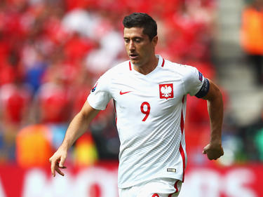 Robert Lewandowski erzielte in der Schlussphase einen Treffer für Polen