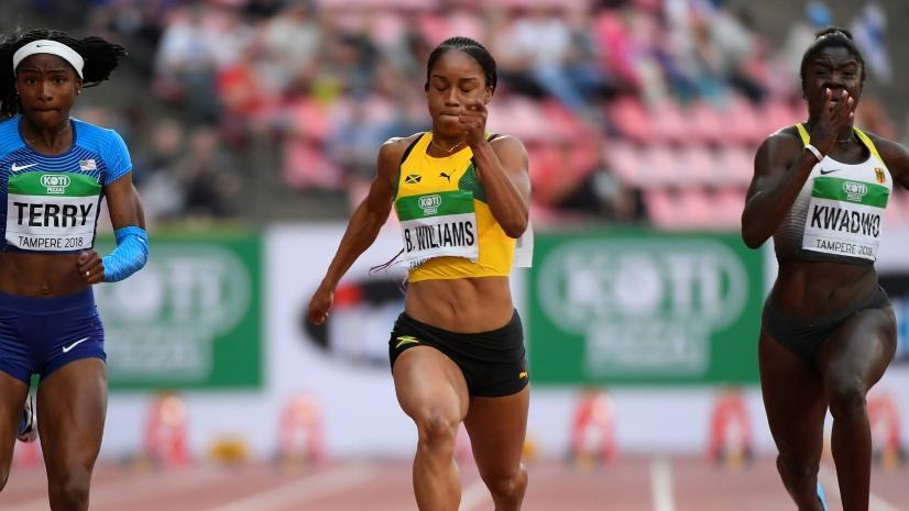 Briana Williams (m.) wurde offenbar des Dopings überführt