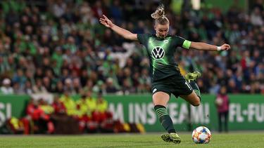 Alexandra Popp wurde nach ihrer Verletzungspause in der 70. Minute eingewechselt