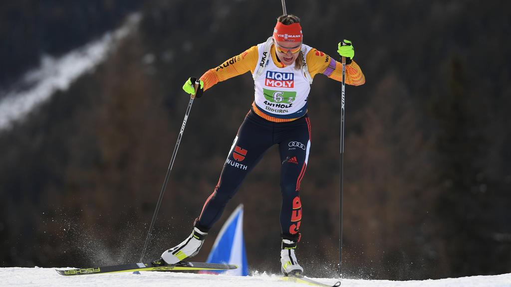 Denise Herrmann zeigte eine starke Laufleistung in Antholz