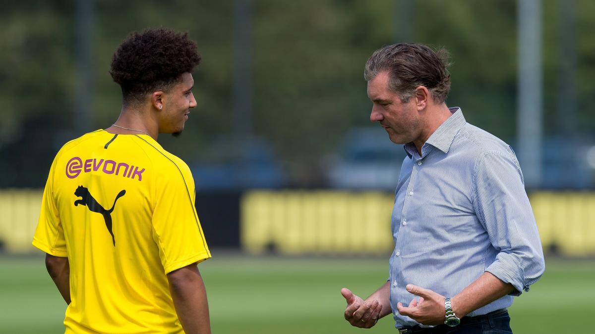 Sportdirektor Michael Zorc will Jadon Sancho noch lange beim BVB sehen
