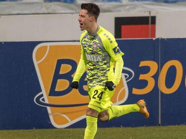 Dominik Prokop jubelt über seinen zweiten Treffer im zweiten Spiel