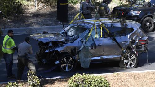 Das Unfallauto von Tiger Woods