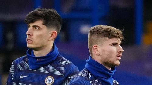 Kai Havertz (l.) und Timo Werner (r.) vom FC Chelsea stehen in der Kritik