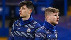 Beim FC Chelsea noch nicht hundertprozentig angekommen: Kai Havertz und Timo Werner