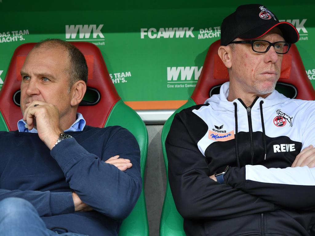 Waren am Ende kein funktionierendes Team mehr: Peter Stöger (r.) und Jörg Schmadtke