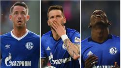 Mark Uth, Guido Burgstaller und Breel Embolo greifen beim FC Schalke 04 an