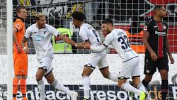 Die Hoffenheimer bejubeln den dritten Auswärtssieg in Serie