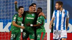 Calleri celebra su gol en Anoeta. (Foto: Getty)