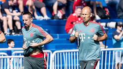 Franck Ribéry und Arjen Robben arbeiten für ihr Comeback
