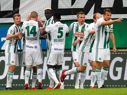 Rapid-Jubel gegen Mattersburg