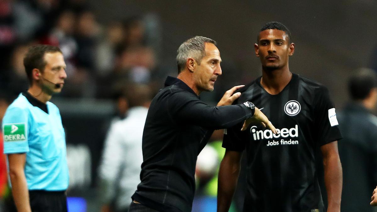Adi Hütter will mit Sébastien Haller gerne noch länger bei Eintracht Frankfurt zusammenarbeiten