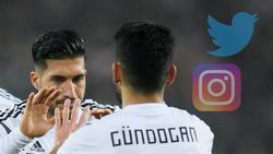 """Sorgten mit einem """"Like"""" für Ärger: Emre Can und Ilkay Gündogan"""